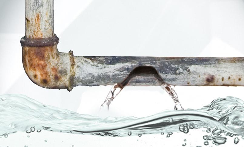 Humidité Ascensionnelle ou Mérule - Dromursec - loupe sur fuite